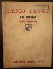 David Brown Schlepper 990 Esatzteilkatalog