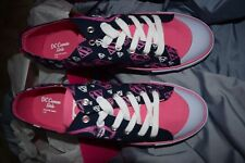 woman tennis shoes DC Comic girl low top supergirl new with box navy pink stars