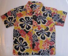 NWOT VTG Ocean Pacific Hawaiian Shirt Boy Girl Unisex 4 Top Collar Short Sleeve