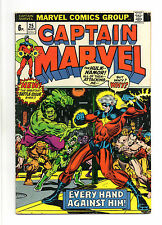 Captain Marvel Vol 1 No 25 Mar 1973 (FN+) Cameo app by Thanos, Jim Starlin art