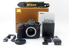 NIKON D7200 24.2MP Digital Camera Black Body  Battery x2  Japan [Exc+++]520 725