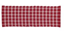 "COUNTRY RED & WHITE PLAID CHRISTMAS TABLE RUNNER 13"" x 36"" By PARK DESIGNS"