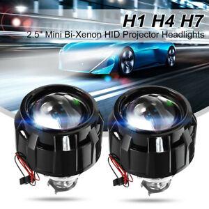 """Pair 2.5"""" RHD Car Bi-xenon HID Projector Halo Lens Headlight Shroud H1 H4 H7 AU"""