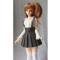 Cute Smoky Grey Suspender Dress Mini Skirt for 1/3 BJD SD YOSD Dollfie ACCS