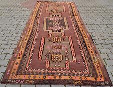 "Turkish Kilim Rug Hand Woven Wool Large Runner Area Rug 61"" x 150"""