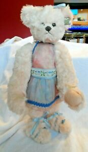 """blush pink 16"""" Ballerina plush bear from Annette Funicello w/ stand"""