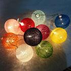 Habitación 20 Bola de Ratán LUZ LED Cuerda Hada Lámpara Fiesta Boda Navidad