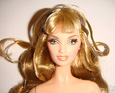 Nude Barbie Curly Blonde Model Muse Body Barbie Doll For Ooak bn991