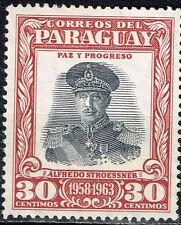 Paraguay 15 year ann of leadership Dictator Alfredo Stroessner 1958 MLH