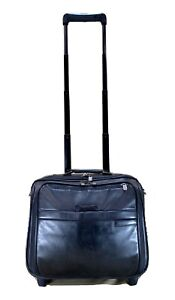 Briggs & Riley Leather Compact Rolling Business Briefcase Carry On LR214 $499