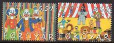 Faroe Islands Mnh 2002 Sg432-33 Europa-Circus