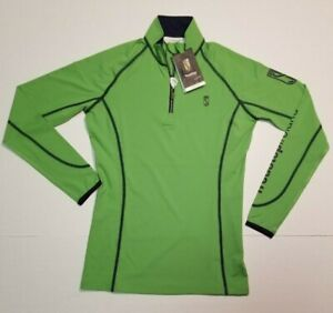 Tredstep Ireland Symphony Sport Top Green Navy S US 4 UK 4 NWT SHIPS FAST