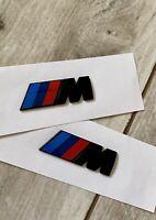 2x BMW M Embleme Schwarz Matt M-Paket Kotflügel M-Power NEU