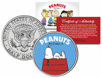 "Peanuts ""Snoopy  DogHouse"" JFK Kennedy Half Dollar U.S. Coin *Licensed*"