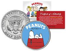 "Peanuts ""Snoopy  DogHouse"" JFK Kennedy Half Dollar U.S. Coin *Licensed*"