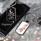 Personalised  Metal Keyring Photo Printed/Engraved Keepsakes collectable Gift ??