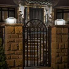 Waterproof Solar LED Piling Light Fence Post Pillar Courtyard Auto Lamp Lights