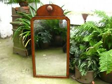 More details for georgian walnut wall mirror antique