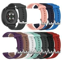 20mm Replacement Silicone Grain Adjustable Watch Strap Band for Polar Ignite Fas