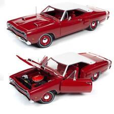 AUTOWORLD AMM1191 1969 DODGE SUPER BEE DARK R6 RED CLASS OF '69 DIECAST CAR 1:18