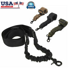 Tactical Sling One Single Point Mission Rifles Bungee Cord Gun Hook Strap Band