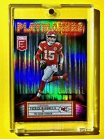 Patrick Mahomes REFRACTOR PLAYMAKERS DONRUSS ELITE INSERT 2020 CHIEFS - Mint!