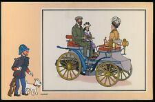 c61 art Herge TINTIN cartoon early automobile CARS original old 1950s card