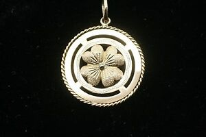 18k Yellow Gold 4 Leaf Clover Charm