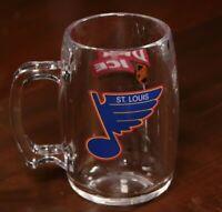 Vintage 90s St. Louis Blues Bud Ice Beer Mug Anheuser Busch Cup Budweiser