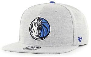 Dallas Mavericks NBA '47 Gray Boreland Captain Hat Cap Adult Men's Flat Snapback