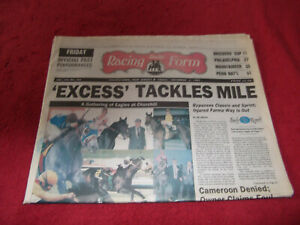 1991 BREEDERS CUP--FRIDAY EDITION DAY BEFORE RACES-IN EXCESS-FARMA WAY!