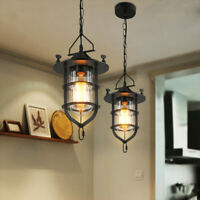 Loft Chandelier Vintage Ceiling Fixture Restaurant Pendant Lighting Lantern Lamp