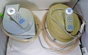 2x Sleep Number Select Comfort Dual Hose Air Pump & Remote Model UFCS3-2 UFCS2-2