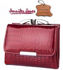 mini Portafoglio MONEY Jennifer Jones in Pelle vera lucida Carte,da Donna rosso