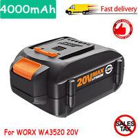 NEW 4.0AH WA3520 for Worx WA3525 20V 4000mAh Battery WA3512 WA3712 WG155s WG160