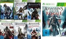 Xbox 360 Assassins Creed 7 PACK 1 2 3 4 Brotherhood Revelations Rogue Top