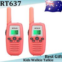Retevis RT637 kids Walkie Talkies PMR446 16CH 2Way Radio toy gift 1200m Pink LCD