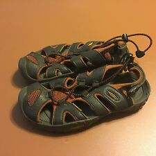 Keen Kupa Big Kids Youth Waterproof Sport Sandal Orange Gray Size 2
