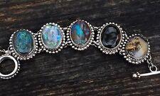 STEPHEN DWECK Sterling Silver 925 One of a Kind Beetle Opal 103g OOAK bracelet