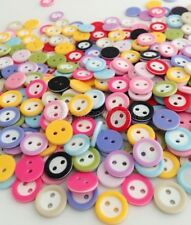 500pcs Mixed Color Round 2 Holes Resin button Sewing Scrapbooking 11mm erk512