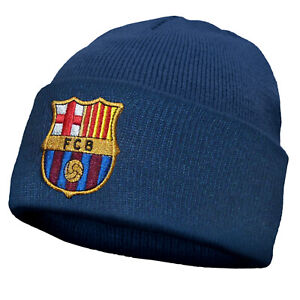 FC Barcelona Kids Hat Knitted Bronx Beanie OFFICIAL Football Gift