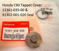 GENUINE HONDA C50 C70 C90 Tappet Cap Cover and Seal Set (12361-035-000)