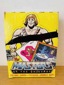VINTAGE Topps Cards Complete Boxed set! He Man Motu Wax Packets Rare Trading