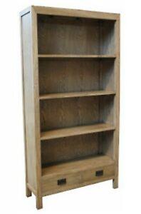 Parklane Solid Oak Bookshelf  95 cm x32 cm x185 cm French Provincial bookcase