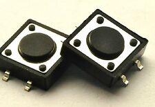 50 un. 12x12x4.3mm placa de circuito impreso devolver el tacto Pulsador Táctil Interruptor 4Pin Dip