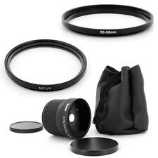 55mm Super Fish Eye 0.18x,MCUV Filter for Sony Alpha SLT A37 A57 A77 A65 A55 A35