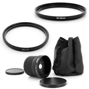55mm Super Fish Eye 0.18x,MCUV Filter for Sony Alpha SLT A37 A57 A77 A65 A55 A35