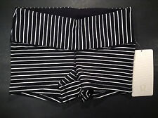 Lululemon BOOGIE Short PARALLEL Stripe BLACK White (Size 04) NWT