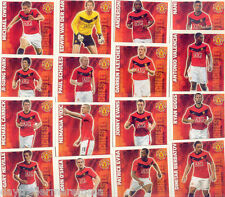 2009/2010 Topps Match Attax Manchester United common team set + Manager