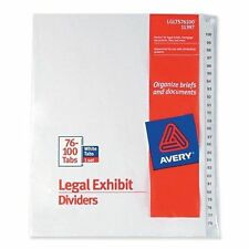 THREE Avery Dennison 11397 Premium Collated Legal Exhibit Dividers 76-100 25 tab